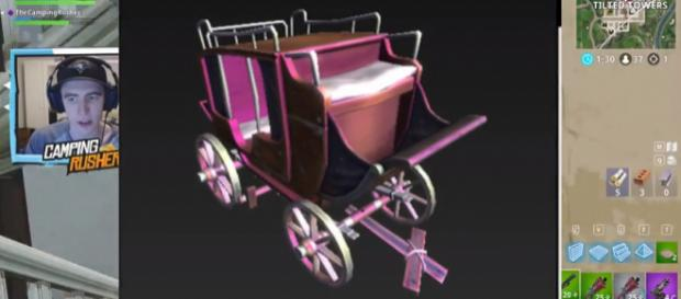A 3D render of the stagecoach found in the 'Fortnite' game files - YouTube/TheCampingRusher - Fortnite