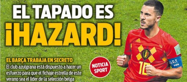 El Barça trabaja 'en secreto' para contratar a Hazard, según Sport (Rumores)