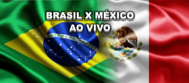 Brasil e México jogam nesta segunda-feira