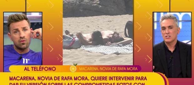 Sálvame: las fotos de la novia de Rafa Mora, Macarena, en la playa con un chico (Rumores)