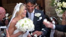 Alessia Marcuzzi, testimone scatenata alle nozze dell'ex Simone Inzaghi: video