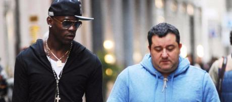 Mario Balotelli et son agent Raiola