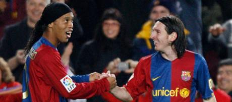 Ronaldinho reveals the truth about his relationship with Lionel ... - mirror.co.uk