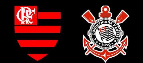 Flamengo x Corinthians hoje ao vivo. (foto reprodução).