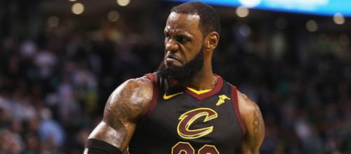 LeBron James scored 51 points in a Game 1 loss to the Golden State Warriors. - [Image via NBA / YouTube screencap]