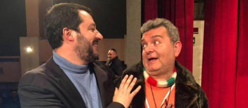 Lo scrittore gay Nino Spirlì insieme all'amico Matteo Salvini