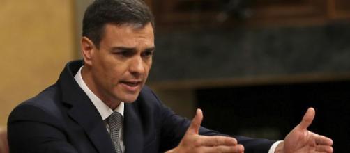 Pedro Sánchez, durante una intervención en el Congreso de los Diputados