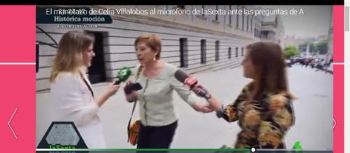 Violenta reacción de Celia Villalobos