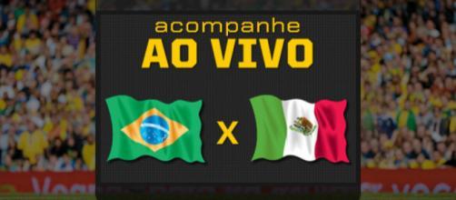 Brasil x México pelas oitavas de final da Copa do Mundo