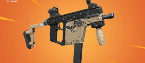 Redditor u/crimsondev's 3D concept of a 'Fortnite' weapon known as the Hornet. - [Kriss Vector / YouTube screencap]