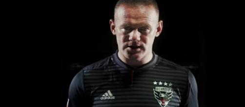 Wayne Rooney during his unveiling by DC United. - [DC United / YouTube screencap]