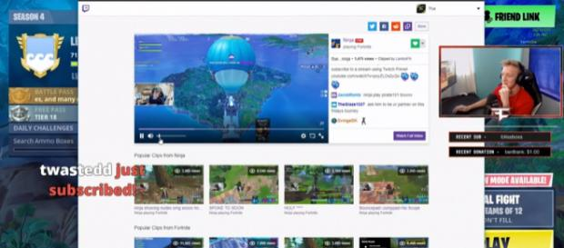 A screenshot of one of FaZe Tfue's recent streams - YouTube/Fortnite Best Moments