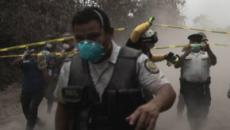 Volcán de Fuego de Guatemala entra en erupción.