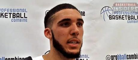 LiAngelo Ball in the Professional Basketball Combine - [image credit: Basketball Insiders/Youtube Screengrab]