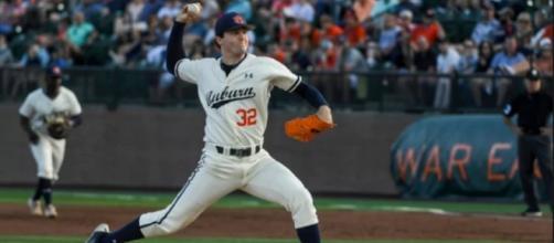 Detroit may select Auburn's Casey Mize at No. 1. [Image via NCAA.com/YouTube]
