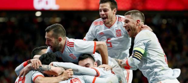 España empata a un gol ante la selección de Suiza previo al mundial Rusia 2018
