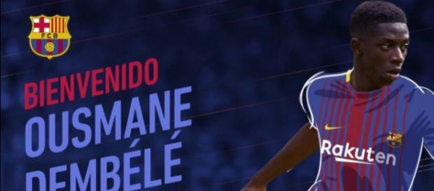 Ousmane Dembele se siente muy bien en el FC Barcelona.