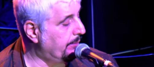 Il cantante napoletano Pino Daniele