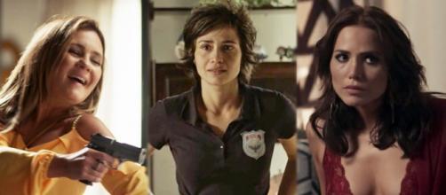 Laureta, Maura e Rosa, personagens de 'Segundo Sol'