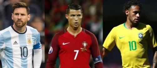 Leo Messi, Cristiano Ronaldo e Neymar, protagonisti annunciati al Mondiale di Russia