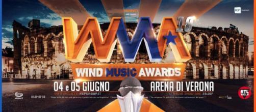 Wind Music Awards 2018: concerto con tanti artisti all'Arena di Verona, trasmesso questa sera, 5 giugno, e il 12 giugno.