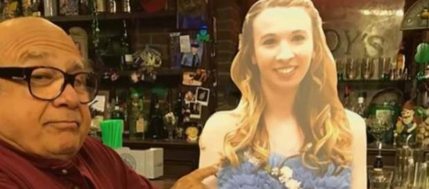 A teen took a cardboard cutout of Danny DeVito to prom, so he returned the favour. [Image Inside Edition/YouTube]