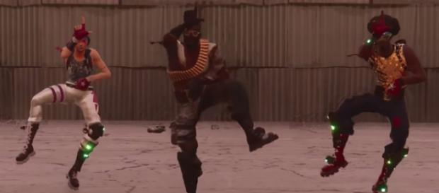 A well-created 'Fortnite' version of Childish Gambino's 'This Is America' is making the rounds online. [Image via WiziBlimp/YouTube screencap]
