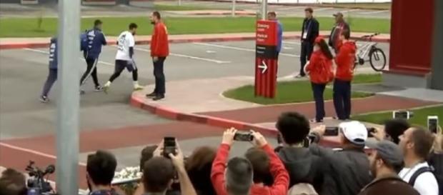 Messi provoca algarabía en Rusia en una práctica abierta de la FIFA