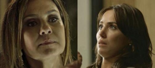 Laureta ameaça e bate em Rosa por ciúmes de Ícaro em Segundo Sol (Foto: TV Globo)