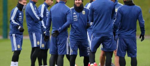 Lionel Messi ya entrena con la Selección Argentina