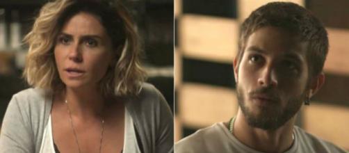 Luzia revela para Ícaro que é a sua mãe em Segundo Sol (Foto: TV Globo)
