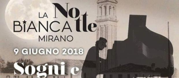 La Notte Bianca a Mirano 2018 è in programma sabato 9 giugno