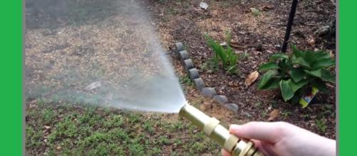 Baby scalded by hot water in garden hose. Photo: Hose Nozzle/YouTube Screenshot