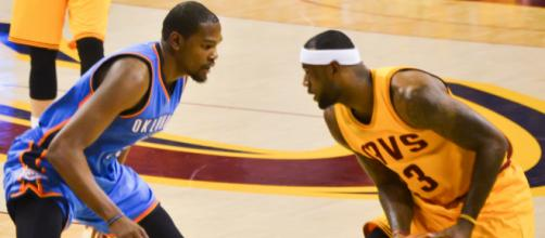 Kevin Durant and LeBron James have had some compelling matchups over the years. Photo courtesy: Erik Drost via Flickr