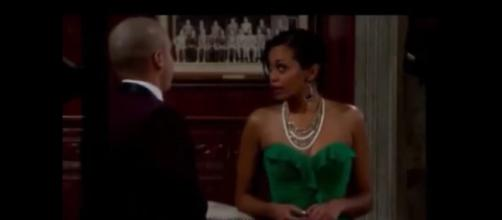 Mishael Morgan is out as Hilary on 'Y&R.' - [Image via Stephen KLF / YouTube screencap]