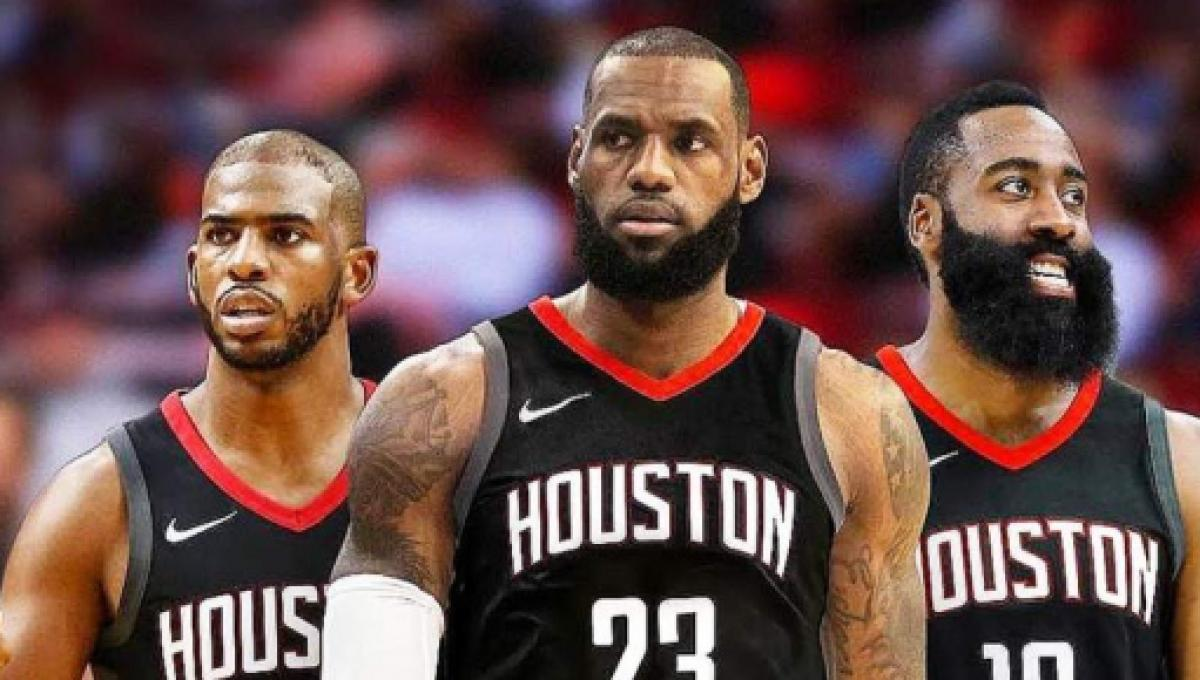 d327a8061516 Chris Bosh can see LeBron James joining Western Conference powerhouse  Houston Rockets