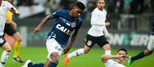 Destaque do Santos, Rodrygo pode ser vendido para o Real Madrid - Foto: Ivan Storti / Santos FC⠀