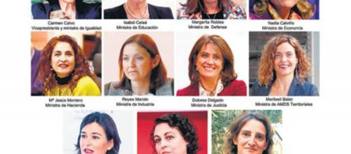 España rompe el récord mundial de mujeres en un gobierno