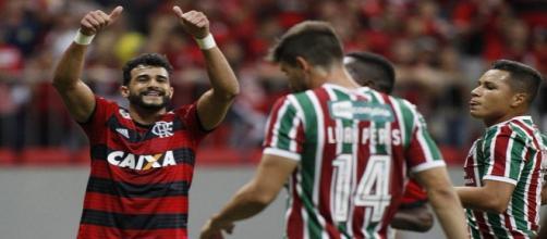 Henrique Dourado comemora vitória do Fla sobre o Flu - Foto: Staff Images / Flamengo