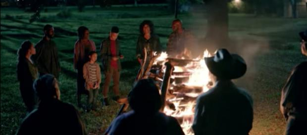 The Bordelon Family attends a bonfire for Ernest. - [Image Credit: OWN / YouTube ]