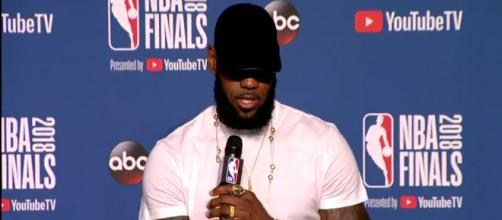 LeBron James says he played with a broken hand in the NBA Finals [Twitter video screencap / ESPN]