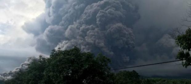 El volcán de Fuego, en Guatemala