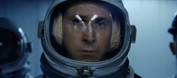 """Ryan Gosling stars as Neil Armstrong in the film """"First Man."""" [Image Universal Pictures/YouTube]"""