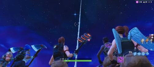 A screenshot of the rocket launch in 'Fortnite' - YouTube screencap/D