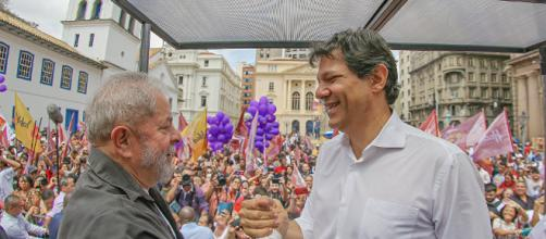 Fernando Haddad e o pré-candidato Lula