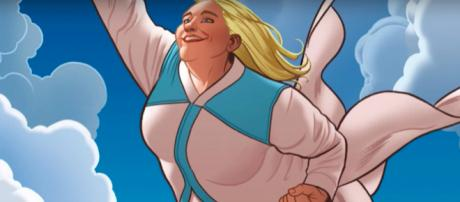 Plus-sized superhero Faith Herbert soars to the big screen. - [ComicPOP / YouTube screencap]