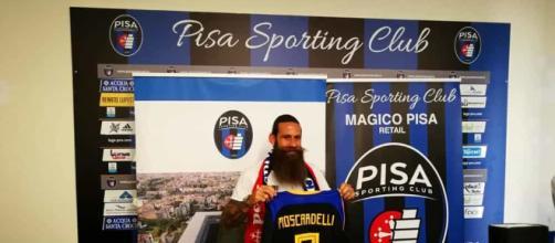 Pisa, entusiasmo alle stelle per Moscardelli