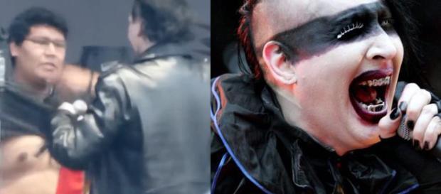 Marilyn Manson gera polêmica durante apresentação