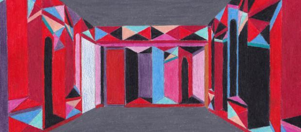 Un'opera dell'artista Catrin Huber