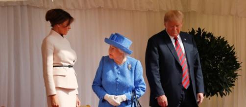 Fotos del encuentro entre la reina Isabel II yTrump